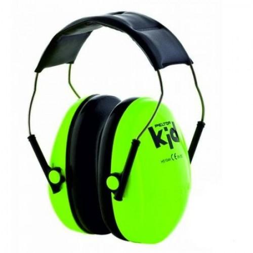 Casti de protectie auditiva pentru copii Peltor Kid, verde neon